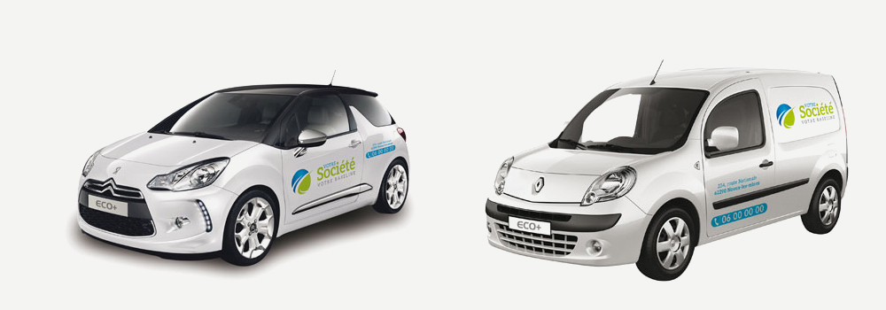 Lettrage Eco vehicules formules voitures eco