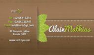 "Carte de visite ""Alain Mathias"""