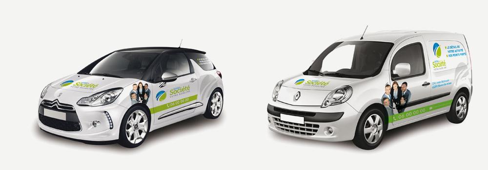 formule lettrage présence pour vehicules légers LC Concept Création
